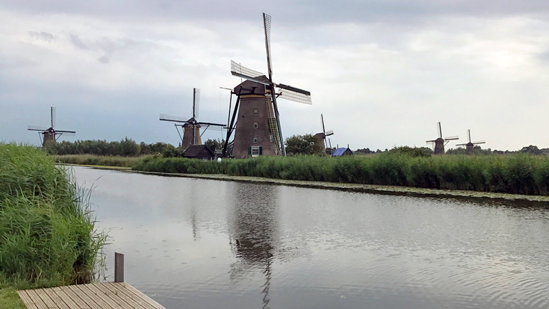 Kinderdijk historic windmills Holland Netherlands