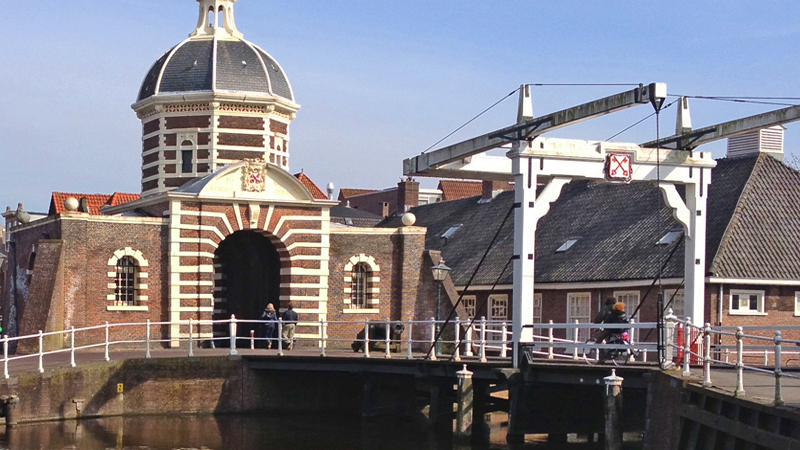 Leiden Morspoort origiinal city gate South Holland Netherlands