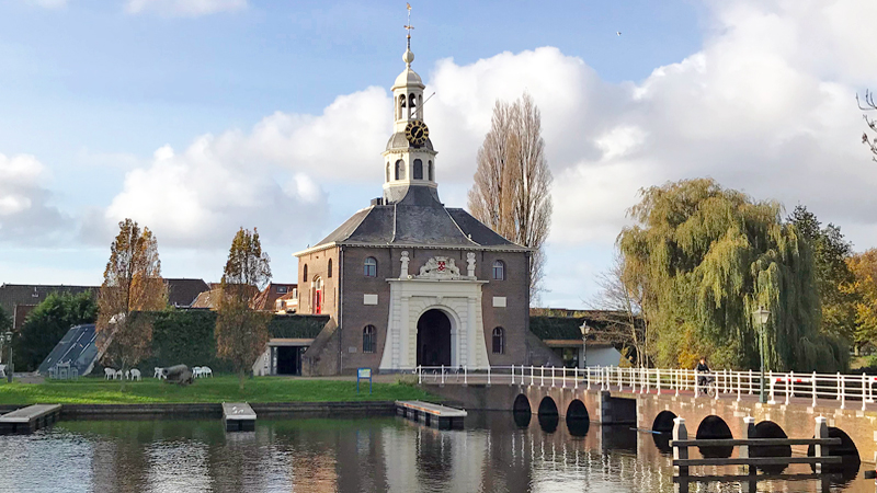 Leiden Zijlpoort historic city gate South Holland Netherlands