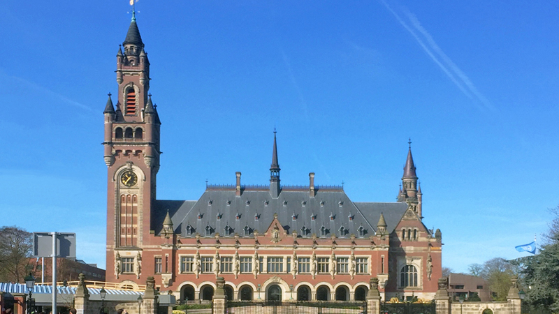 Peace Palace in The Hague South Holland Netherlands
