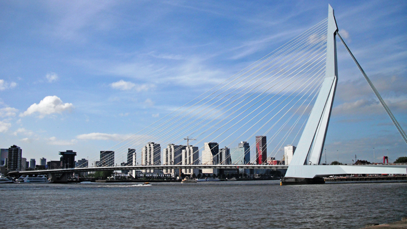 Rotterdam Erasmusbrug (bridge) in South Holland Netherlands