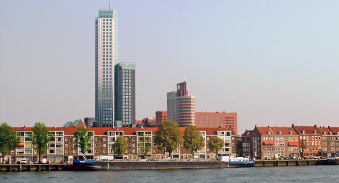 Maastoren building in Rotterdam Netherlands