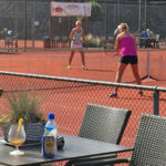 Dutch women playing tennis in The Hague Netherlands