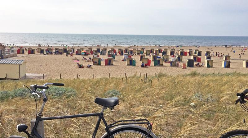 Katwijk aan Zee beach in South Holland Netherlands