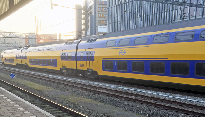 Dutch train at Leiden station