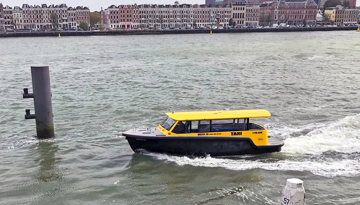 Dutch watertaxi in Rotterdam Netherlands