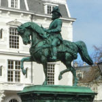 Dutch Willem I equestrian monument in The Hague Netherlands