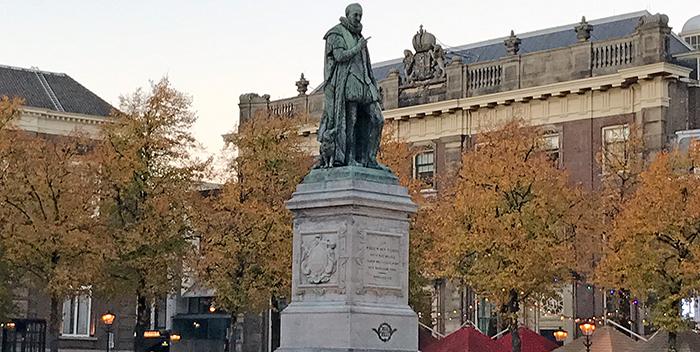 Dutch Willem I monument Het Plein Hague Netherlands