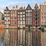 canal houses in Amsterdam Netherlands