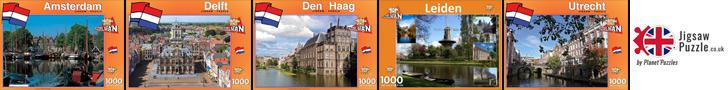 Holland Dutch city jigsaw puzzles Amsterdam-Delft-The Hague Leiden Utrecht