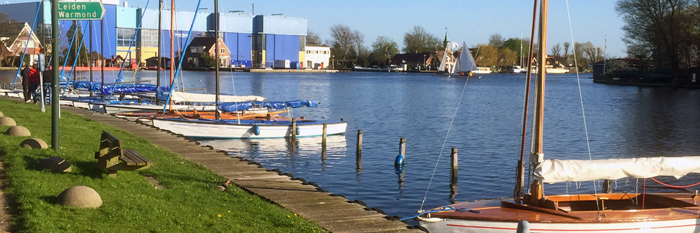 sail boats on lake near Leiden South Holland