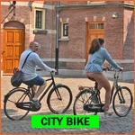 Dutch city bikes (stadsfietsen) in Netherlands