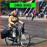 Dutch gradma bike (omafietsen) in Holland