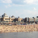 children swimming at Scheveningen Beach The Hague Netherlands