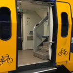 Dutch train bicycle door
