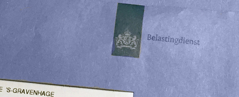 blue Belastingdienst Dutch tax bureau envelope