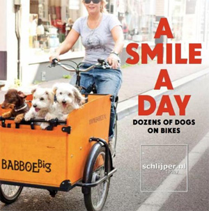 dogs on bikes book Netherlands