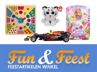 Dutch online retail shop selling kids games toys party decorations