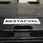 trash bin in the Netherlands labeled 'Restafval'
