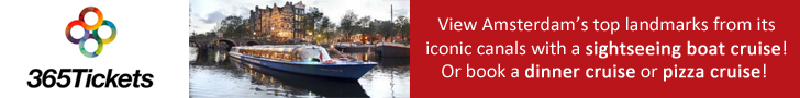 Amsterdam sightseeing boat tours and dinner cruises