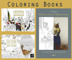 Holland famous painters coloring books