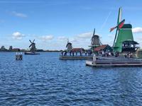 Zaanse Schans historic windmill village in Holland