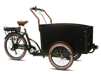 Dutch electric cargo bike at Netherlands store