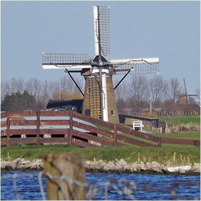Dutch windmill in Netherlands