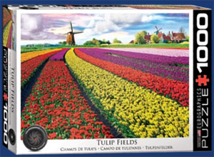 tulips in field Holland jigsaw puzzle