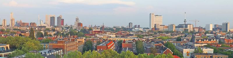 panoramic view of Rotterdam Netherlands