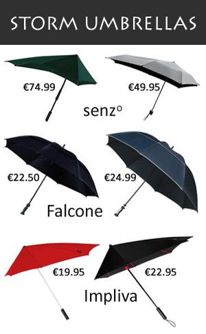 Netherlands storm umbrellas