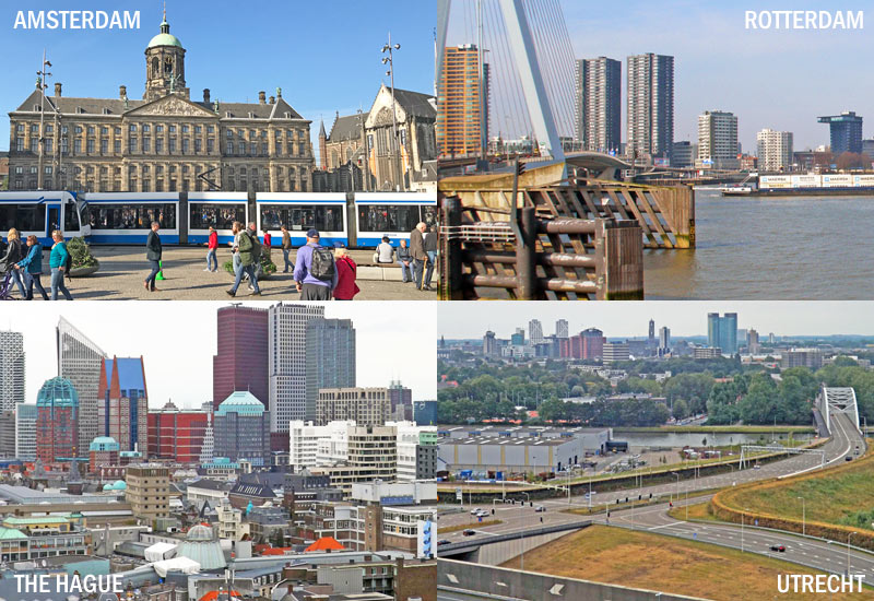 Amsterdam Rotterdam The Hague and Utrecht Netherlands