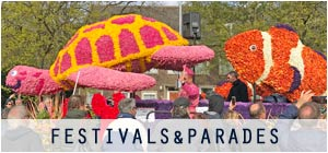 Netherlands festivals and parades in Amsterdam, The Hague, Rotterdam