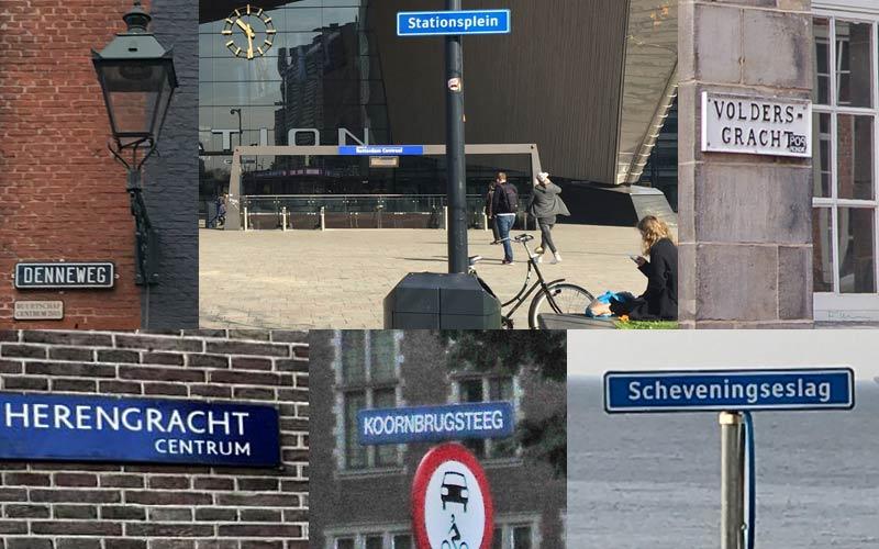 Dutch street names in Holland
