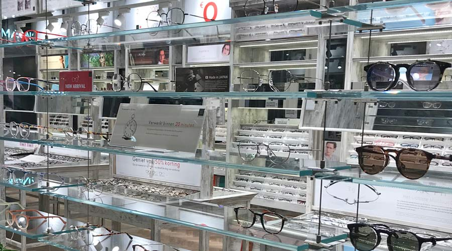 Dutch opticien (optical) shop in Hague Netherlands
