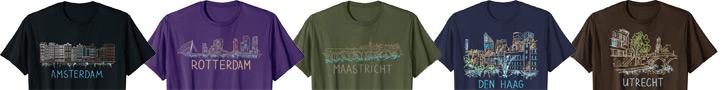 Amsterdam Rotterdam Hague Utrecht T-shirts