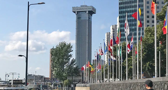 De Zalmhaven Rotterdam tallest building in Netherlands