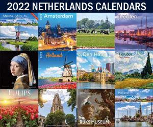 Holland tulips windmills 2022 wall calendars